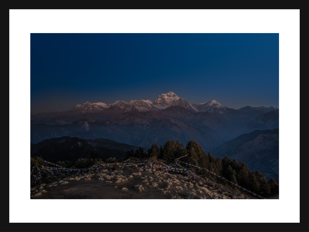 View of Dhaulagiri Range from Poon Hill